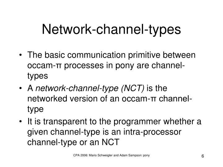 Network-channel-types