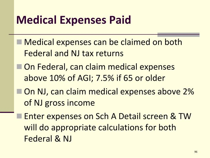 Medical Expenses Paid