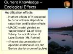 current knowledge ecological effects1
