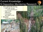 current knowledge n deposition monitoring research