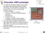 overview asic prototype