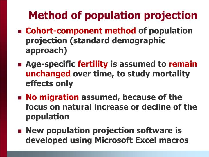 Method of population projection
