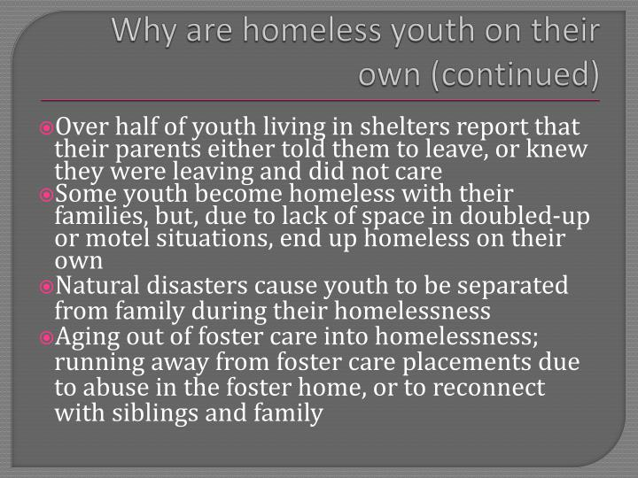 Why are homeless youth on their