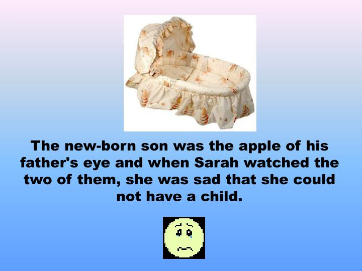 The new-born son was the apple of his father's eye and when Sarah watched the two of them, she was s...