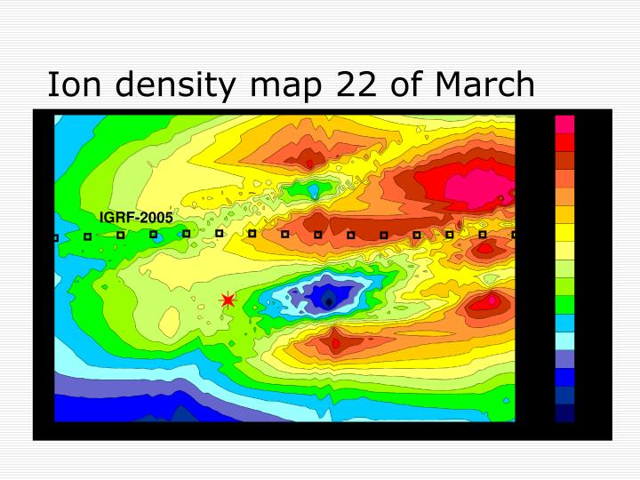 Ion density map 22 of March