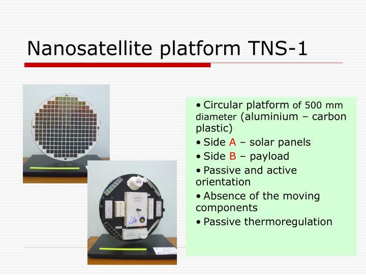 Nanosatellite platform tns 1