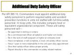 additional duty safety officer