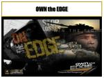 own the edge