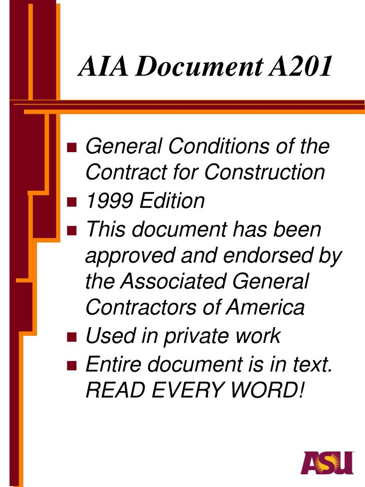 AIA Document A201