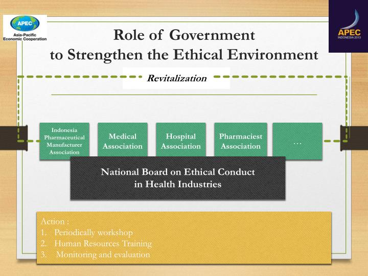 ethical conduct and the work environment And finally, it is essential to communicate the ethical values and a code of conduct to employees to equip them with the authority to take appropriate ethical.