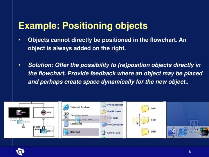 Example: Positioning objects