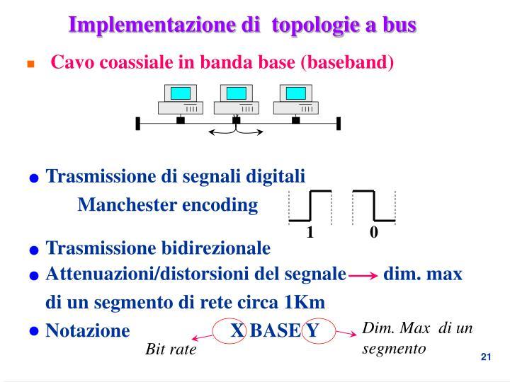 Implementazione di  topologie a bus