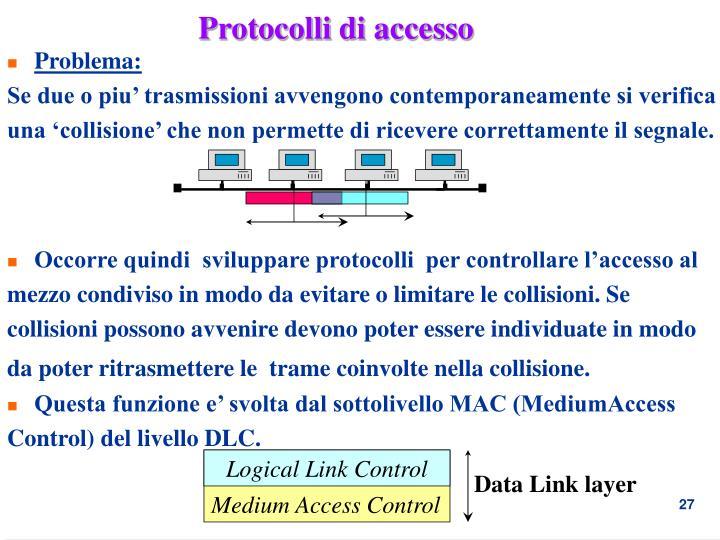 Protocolli di accesso