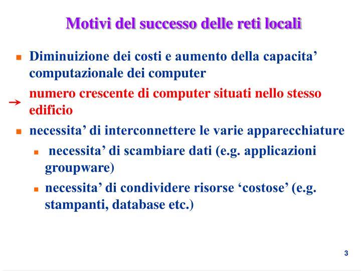 Motivi del successo delle reti locali