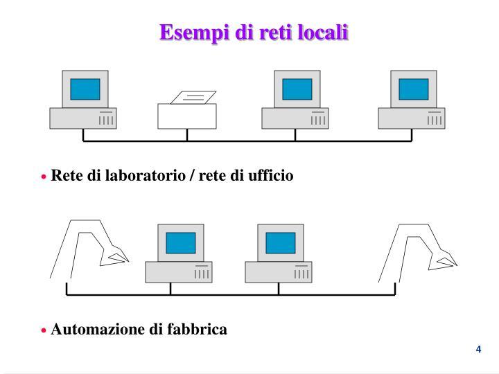 Esempi di reti locali