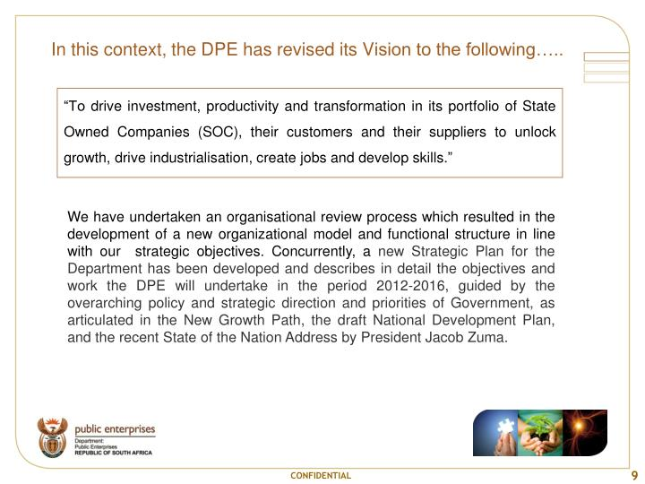 In this context, the DPE has revised its V