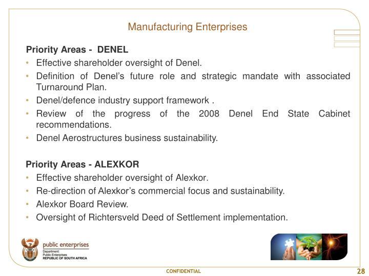 Manufacturing Enterprises