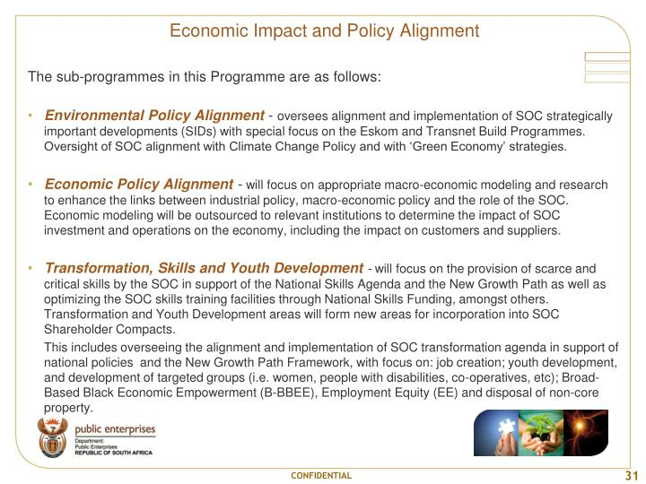 Economic Impact and Policy Alignment
