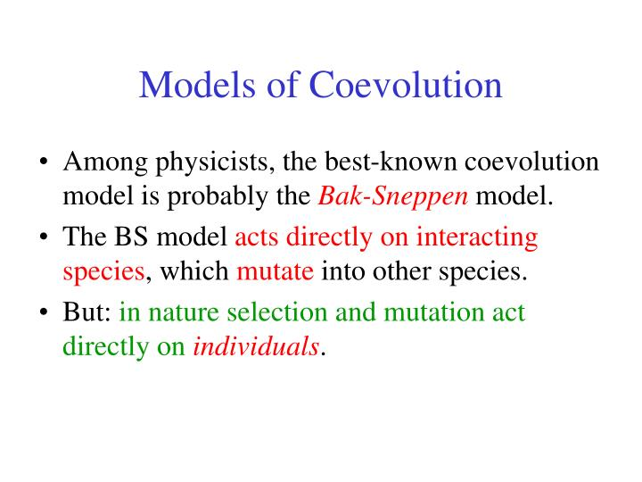 Models of Coevolution