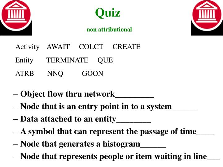 Quiz non attributional