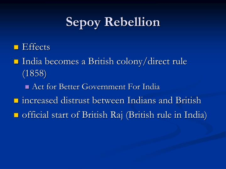 the benefits of british rule The construction of the indian railways is often pointed to as benefit of british rule, ignoring the obvious fact that many countries have built railways without having to be colonized to do so nor were the railways laid to serve the indian public.