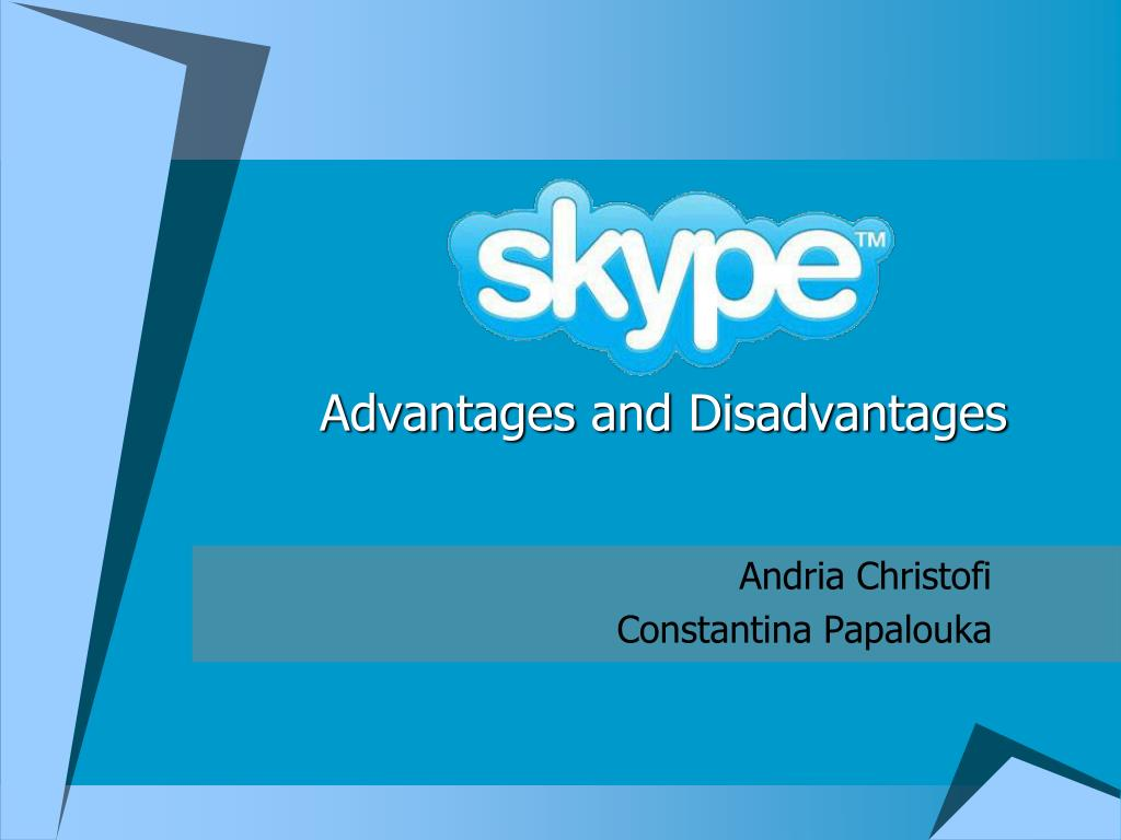 advantages and disadvantages of skype in business