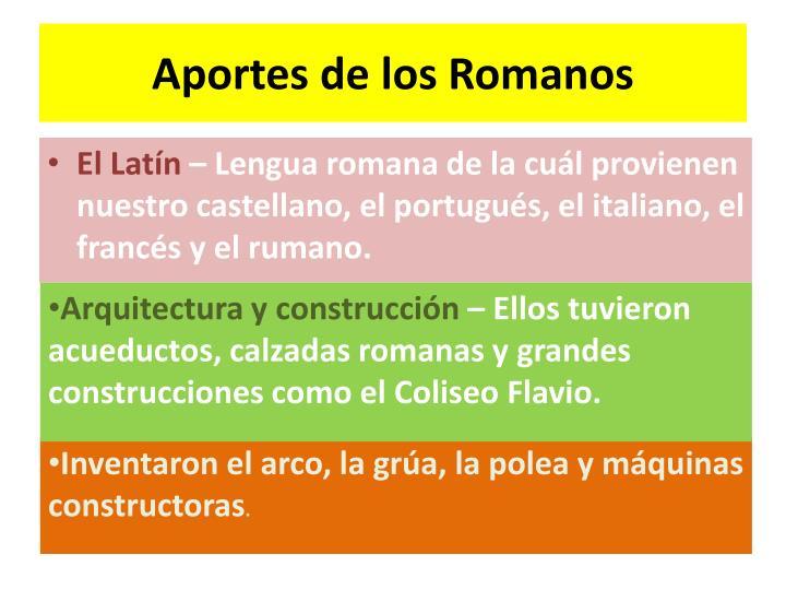 Aportes de los Romanos