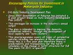 encouraging policies for investment in motorcycle industry5