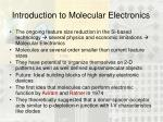 introduction to molecular electronics