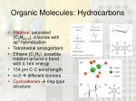 organic molecules hydrocarbons
