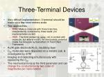 three terminal devices