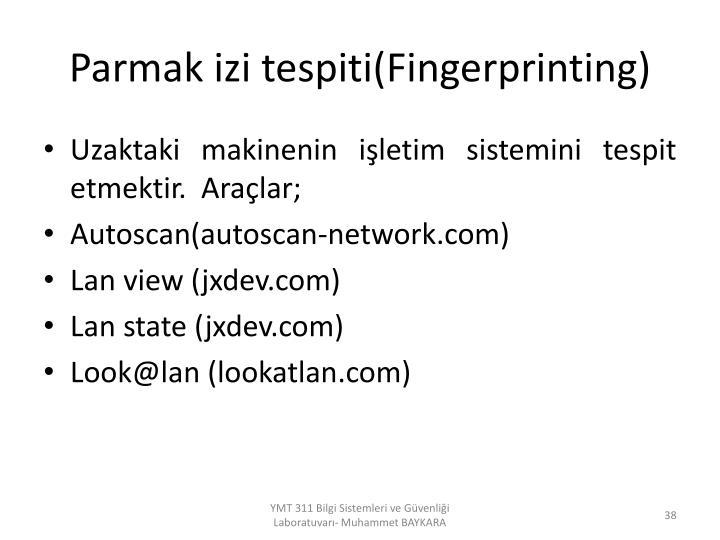 Parmak izi tespiti(