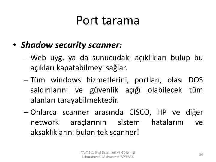 Port tarama