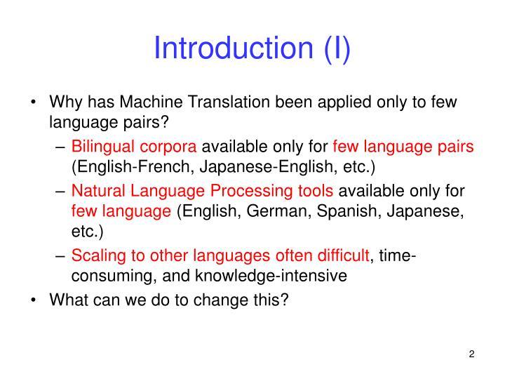 Introduction i