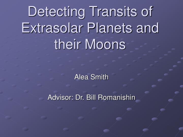 detecting transits of extrasolar planets and their moons n.