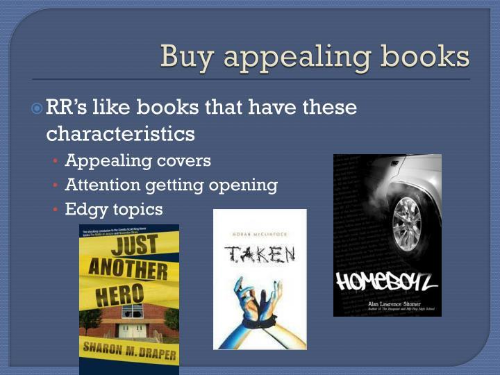 Buy appealing books