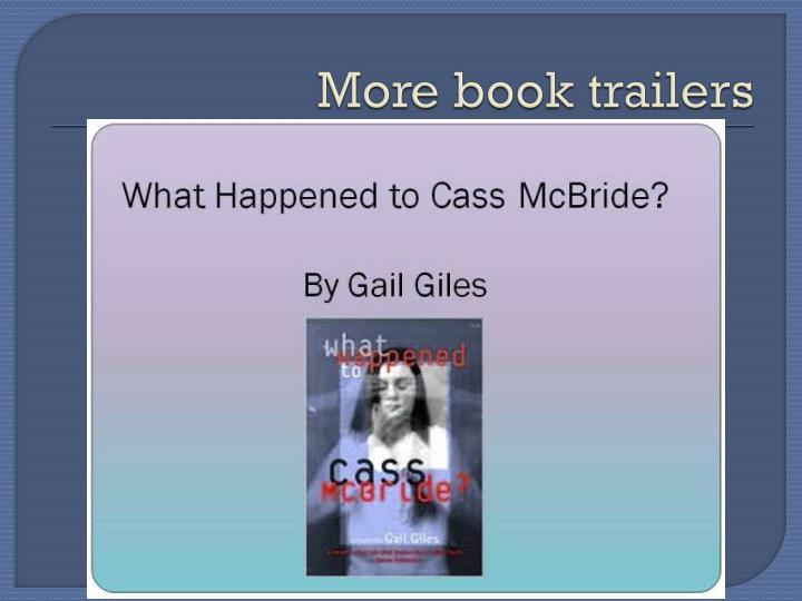 More book trailers