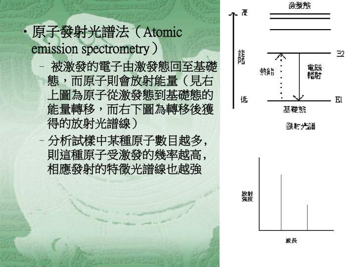 原子發射光譜法(