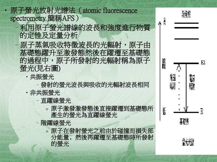 原子螢光放射光譜法(