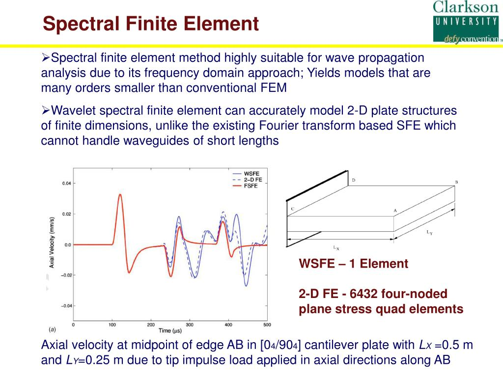 PPT - Wavelet Spectral Finite Elements for Wave Propagation in