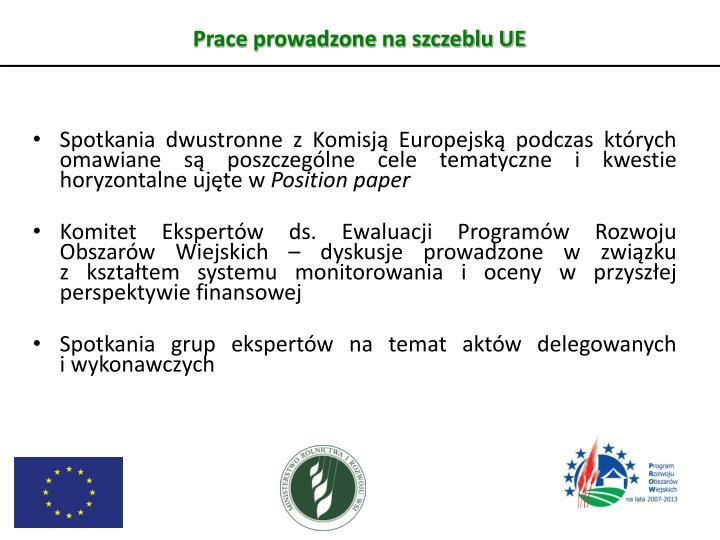 Prace prowadzone na szczeblu UE
