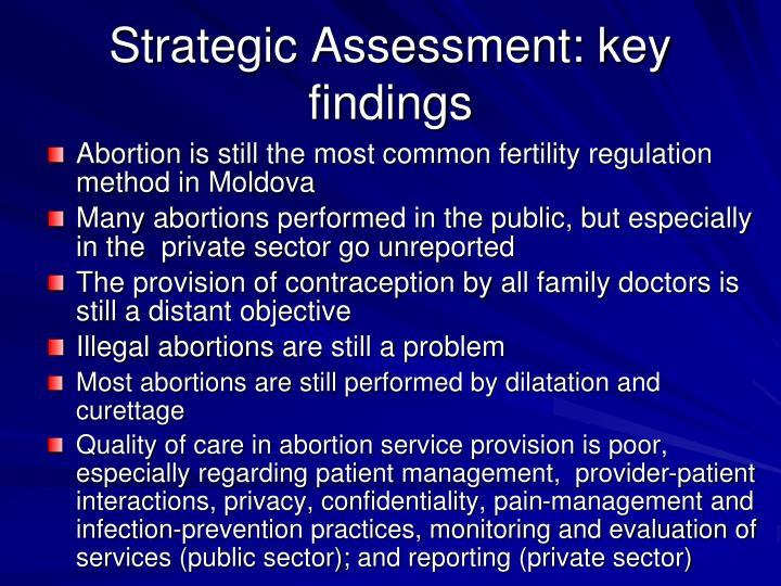 Strategic Assessment: key findings