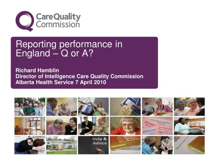 reporting performance in england q or a n.