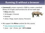 running js without a browser