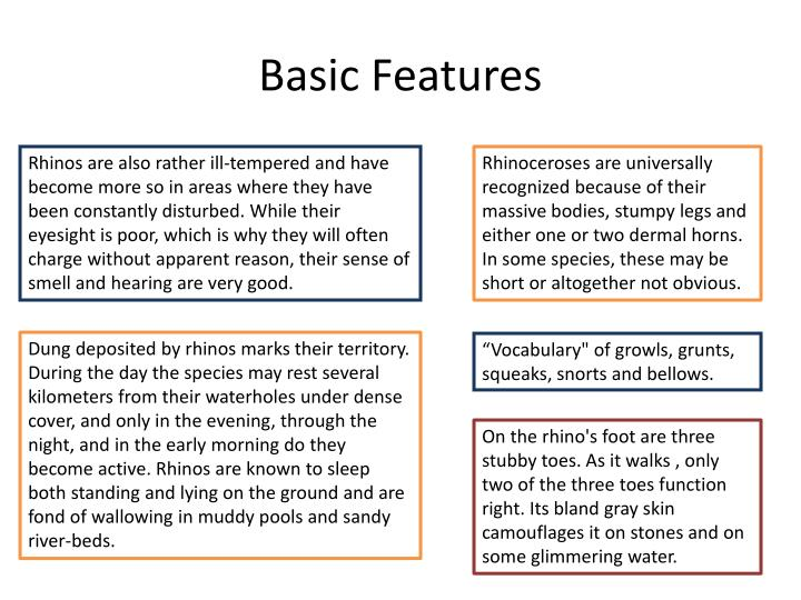 Basic Features