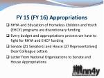 fy 15 fy 16 appropriations