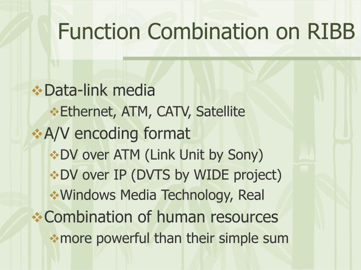 Function combination on ribb