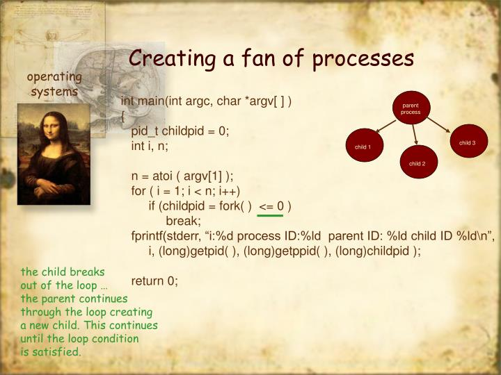 Creating a fan of processes