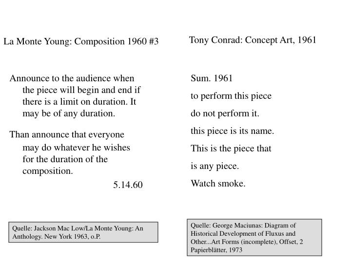 La Monte Young: Composition 1960 #3