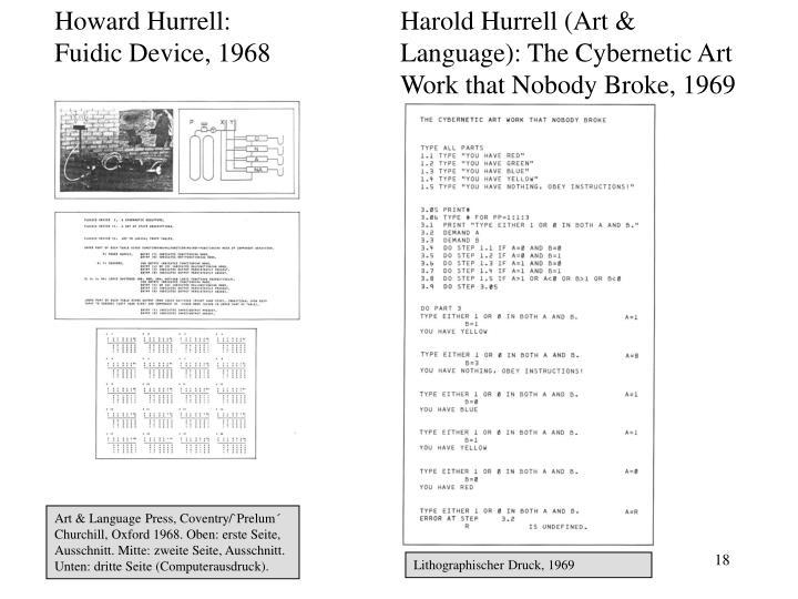 Howard Hurrell: Fuidic Device, 1968